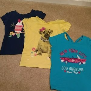 Three Kids place girls shirts size 7/8 sequence